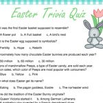 photo about Easter Trivia Printable known as Absolutely free Printable Easter Trivia Quiz
