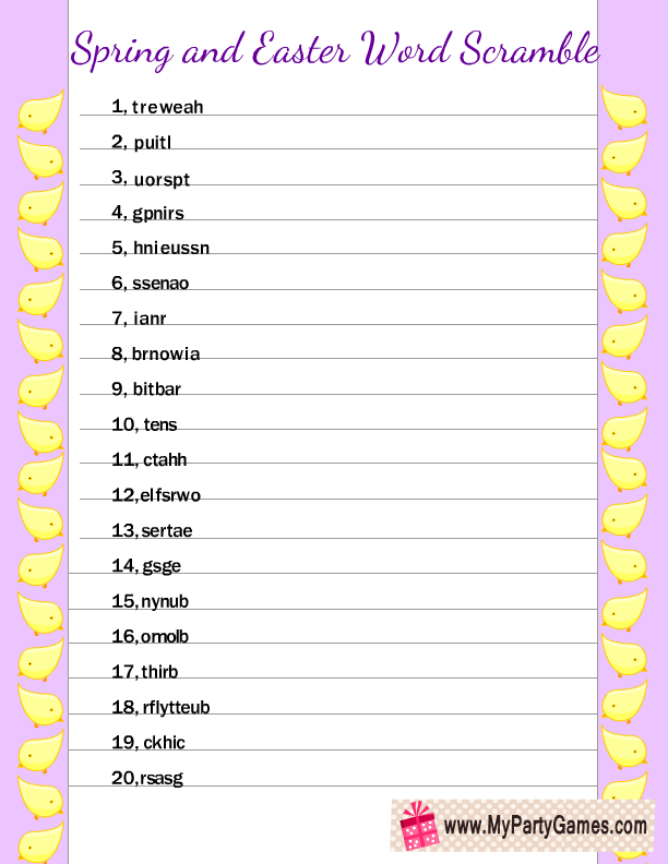 photo about Printable Word Scrambler identify 7 Absolutely free Printable Spring Term Scramble Puzzles