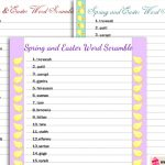 Free Printable Spring Word Scramble Puzzles