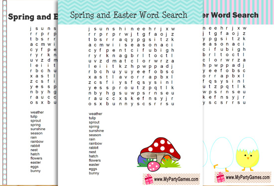 photograph about Free Printable Easter Word Search identify 5 Totally free Printable Spring and Easter Term Glimpse Puzzles