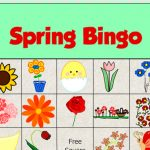 Free Printable Spring Picture Bingo Game