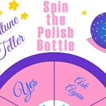 Free Printable Spin the Nail Polish Bottle, Fortune Teller Girls Game