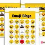 Free Printable Emoji Bingo Game for Kids and Adults
