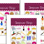Free Printable Sleepover / Slumber Party Bingo Game for Girls