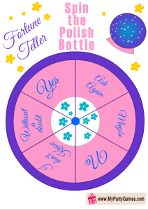 Spin the Nail Polish Fortune Teller, Slumber Party Game for Girls