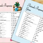 Free Printable Animal Pregnancy Game