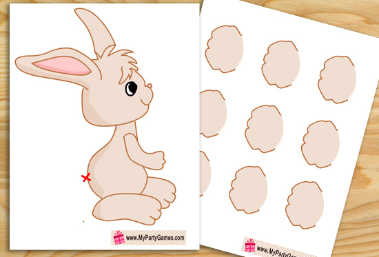 Free Printable Pin the Tail on the Bunny Game
