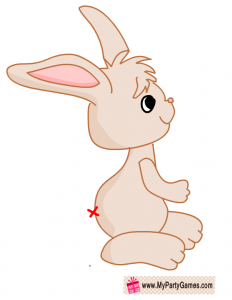 Bunny printable for pin the tail on the bunny game