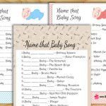 Free Printable Name that Song Baby Shower Game
