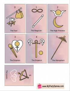 Free Printable Tarot Cards Major Arcana