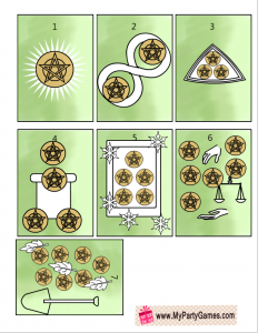 Free Printable Tarot Cards Suit of Pentacles