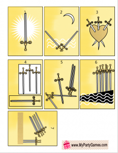 Free Printable Tarot Cards Minor Arcana Suit of Swords
