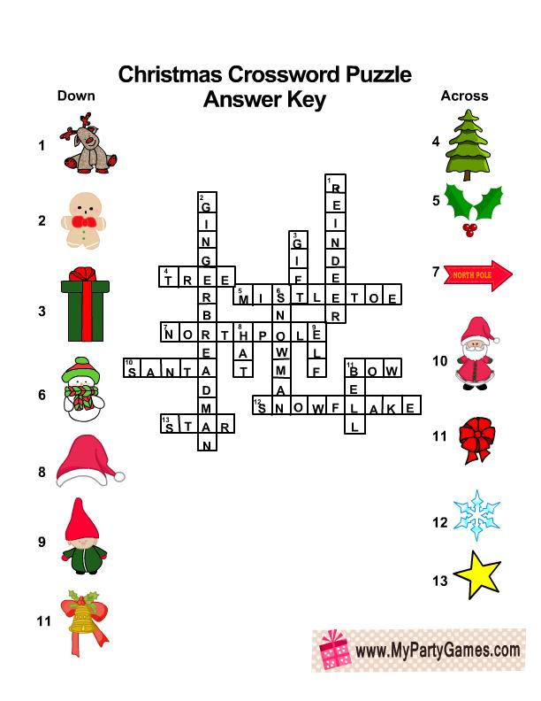 10 Free Printable Christmas Crossword Puzzles
