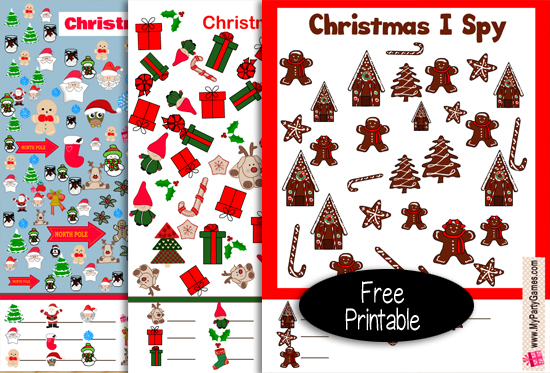 25 Free Printable Christmas I Spy Games