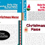12 Free Printable Christmas Mazes