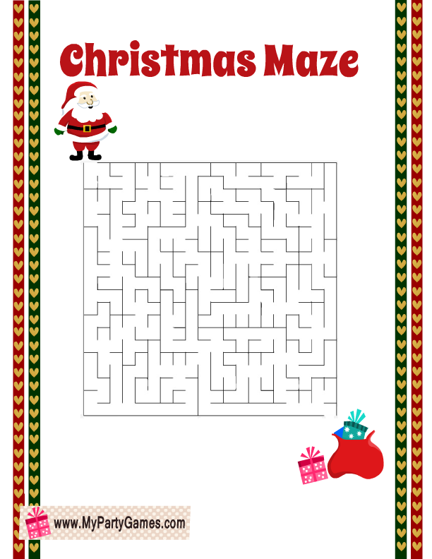 Free Printable Easy Christmas Maze