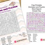 Free Printable Divination and Psychic Word Search Puzzle