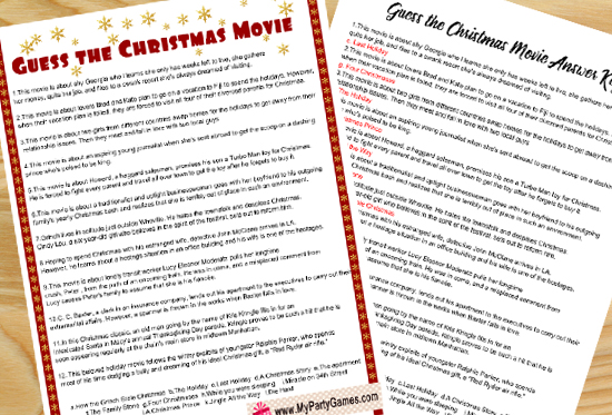 Guess the Christmas Movie Name Game (Free Printable)