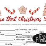 Free Printable Name that Song Christmas Game