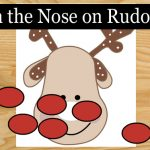 Pin the nose on Rudolph, Free Printable Christmas Game