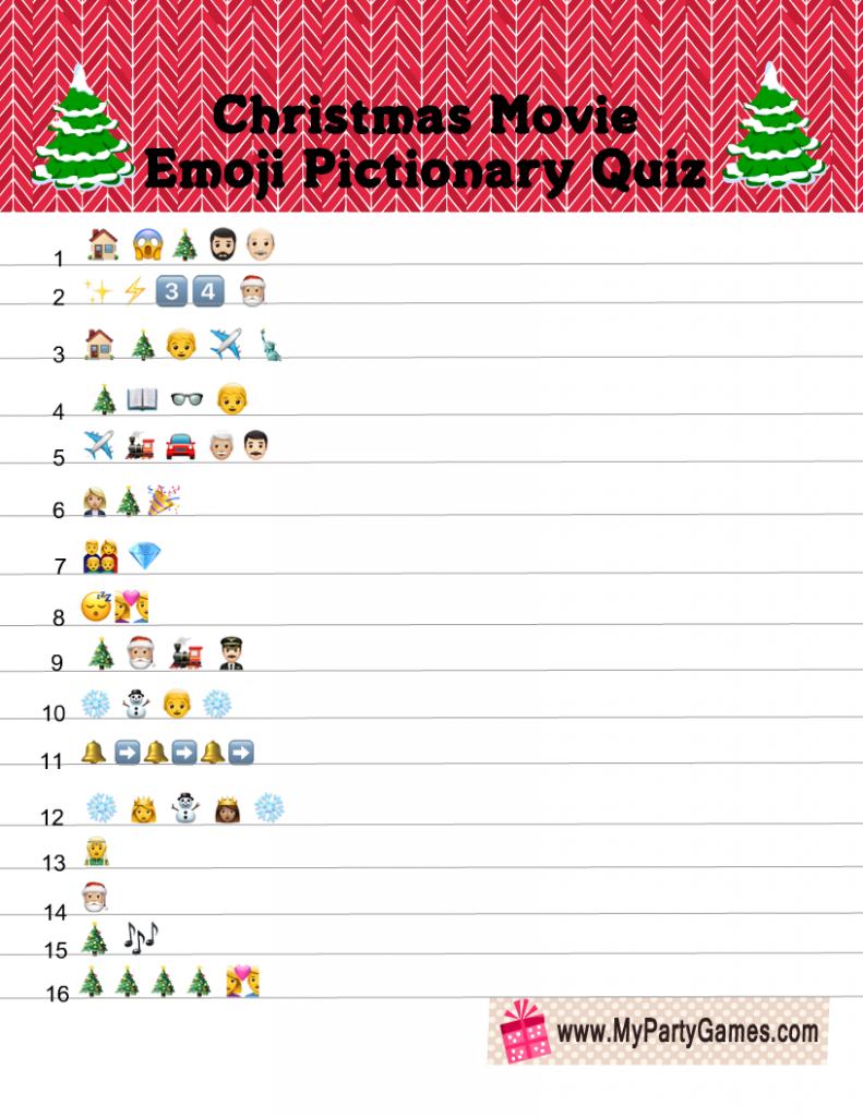Christmas Movie Emoji Pictionary