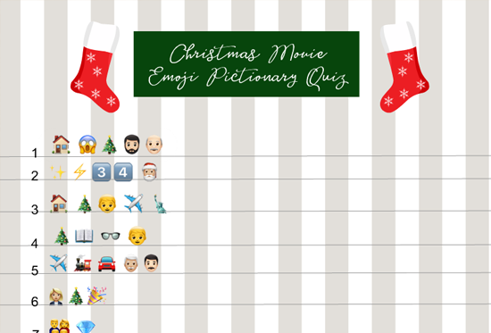 Free Printable Christmas Movie Emoji Pictionary Quiz