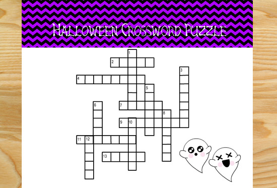 Free Printable Halloween Crossword Puzzles