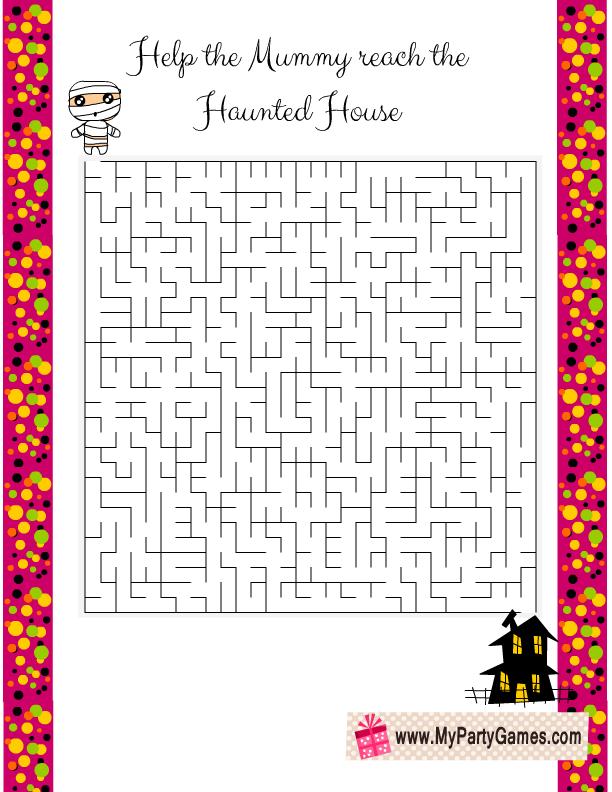 13 Free Printable Halloween Mazes