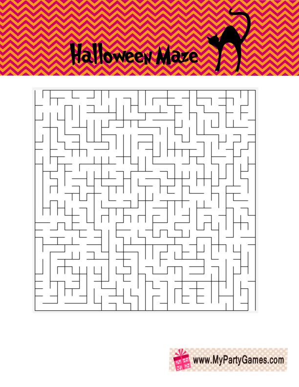 Halloween Maze Printable Free