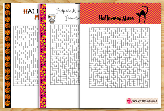 13 Free Printable Halloween Mazes