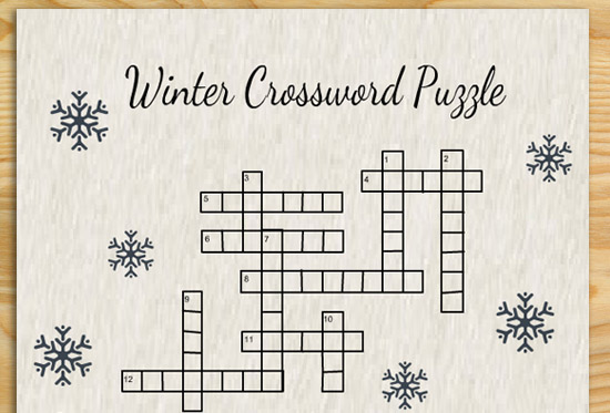 Free Printable Winter Crossword Puzzles
