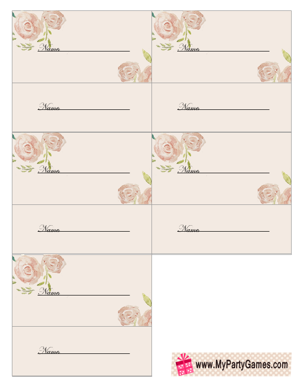 Bridal Shower Raffle Tickets with Pink Roses