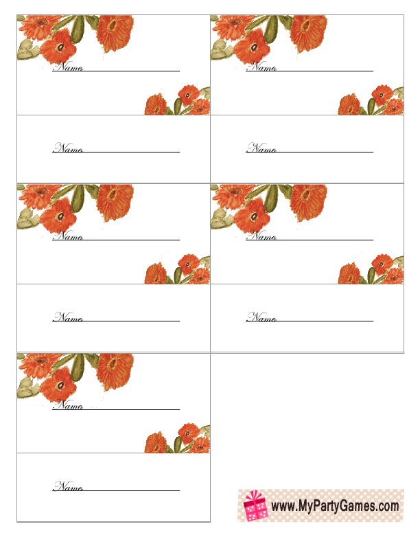 Bridal Shower Raffle Tickets Printable with Flowers