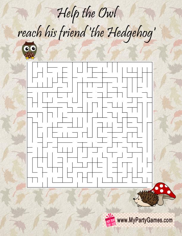 Free Printable Fall Maze for Kids
