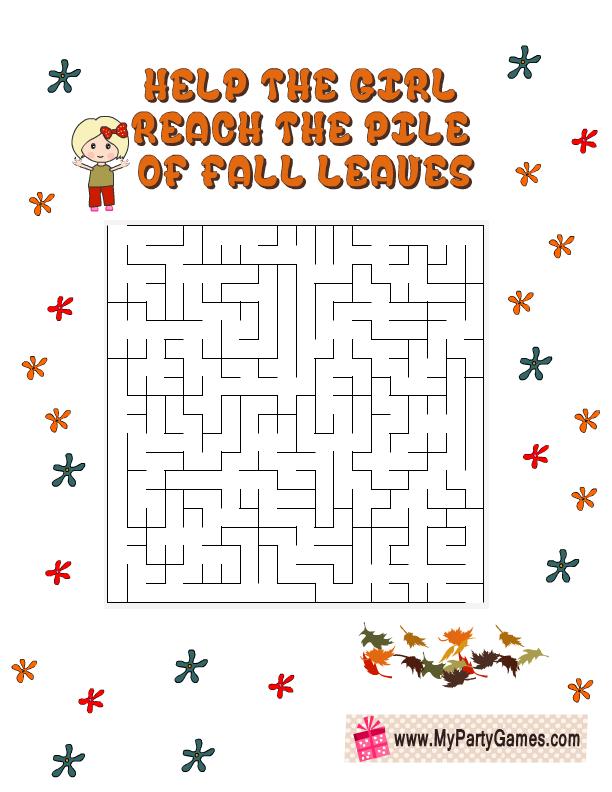 Cute Free Printable Fall Maze