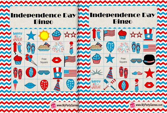 Free Printable Independence Day Bingo (4th of July Bingo)
