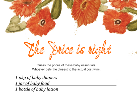 10 The Price is Right Baby Shower Game Printables