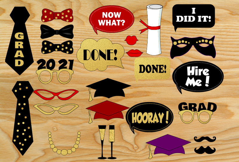 Free Printable Graduation Party Photo Booth Props
