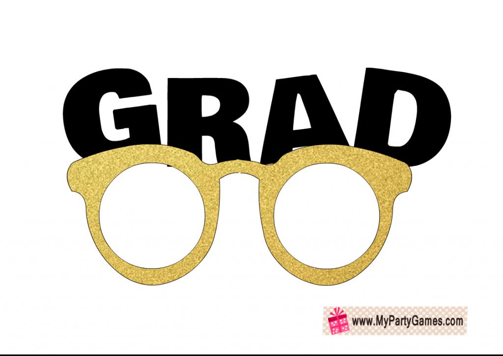 Grad glasses photo booth Props