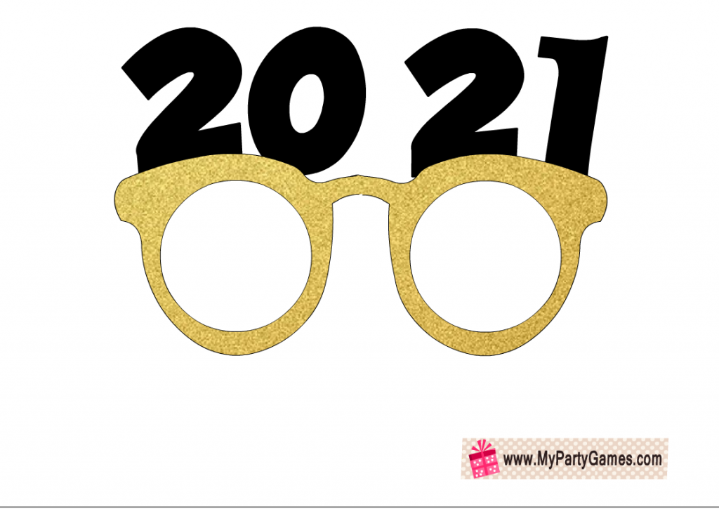 2021 Glasses photo booth prop