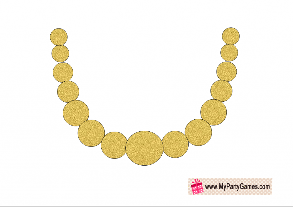 Gold Necklace Photo Booth Prop