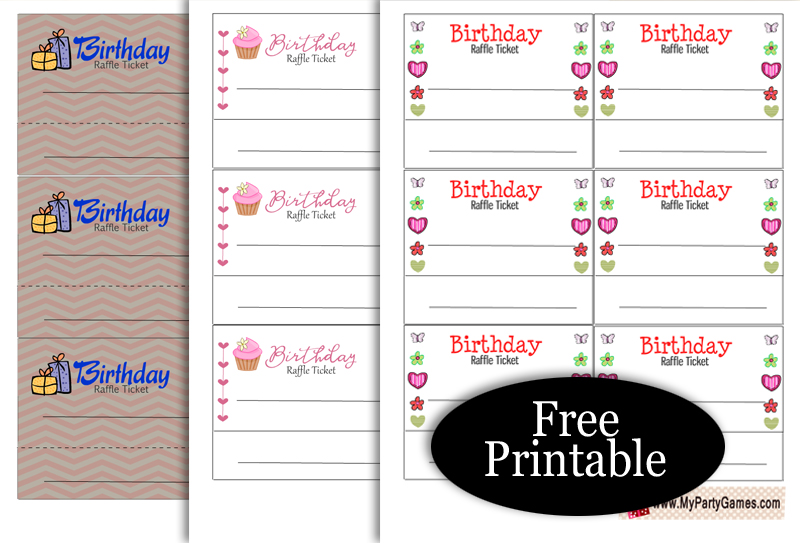 Free Printable Birthday Raffle Tickets
