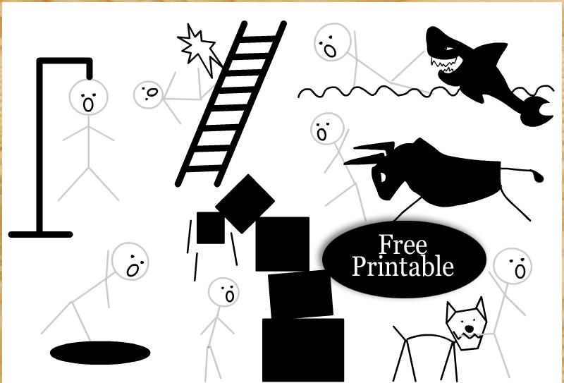 Free Printable Hangman Game Templates