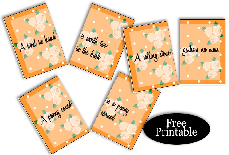 Free Printable Split Proverbs Ice-breaker Game