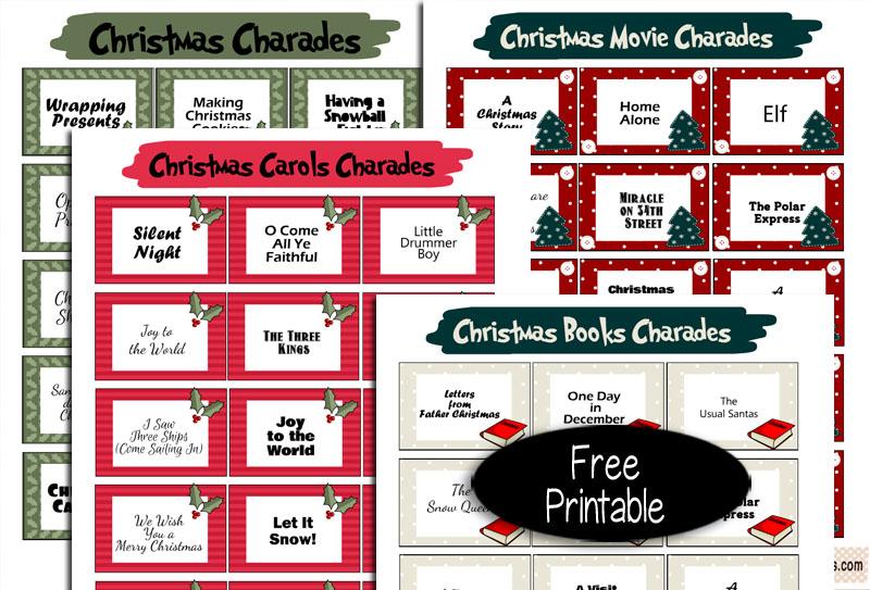 Free Printable Christmas Charades