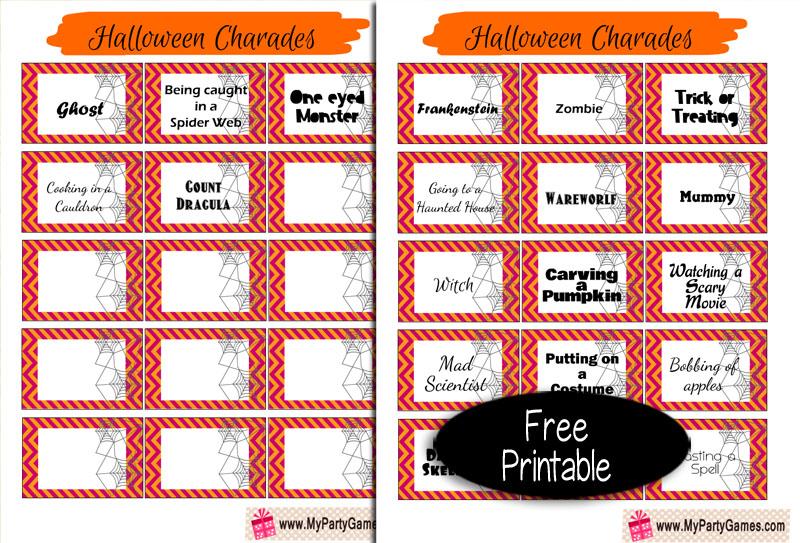 Free Printable Halloween Charades